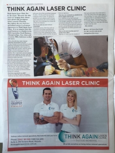 Think Again Laser Clinic Finalist - Australian Small Business Champion Awards 2016