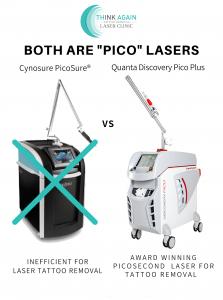Quanta Discovery Pico Plus CynoSure PicoSure picosecond tattoo removal